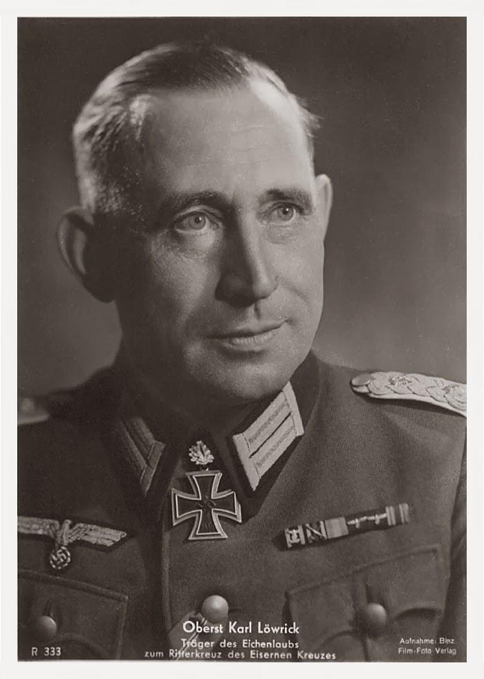Karl Löwrick Ritterkreuzträger Knight Cross Holder Postcard