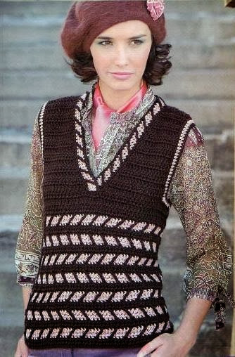 Chaleco Crochet-Tricot a 2 Colores