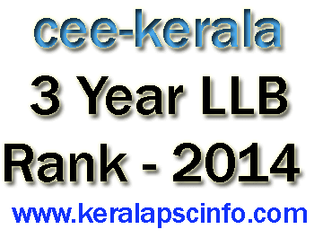 3 YEAR LLB RANK LIST PUBLISHED AT www.cee-kerala.org,