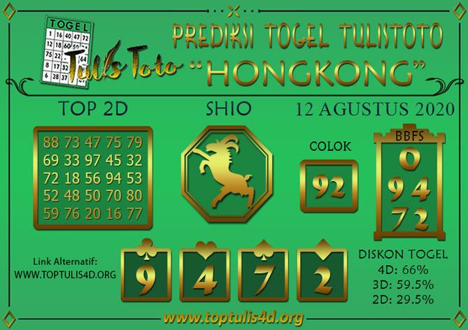 Prediksi Togel HONGKONG TULISTOTO 12 AGUSTUS 2020