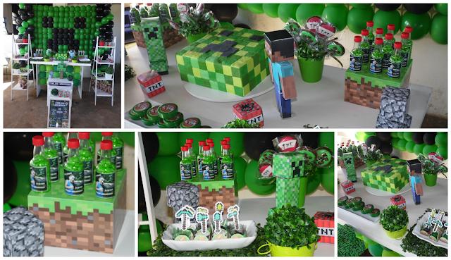 Decoração Personalizada - Minecraft