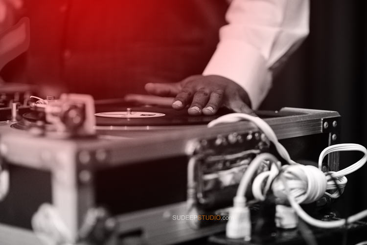 Wedding DJ in Action - Sudeep Studio.com Ann Arbor Photographer
