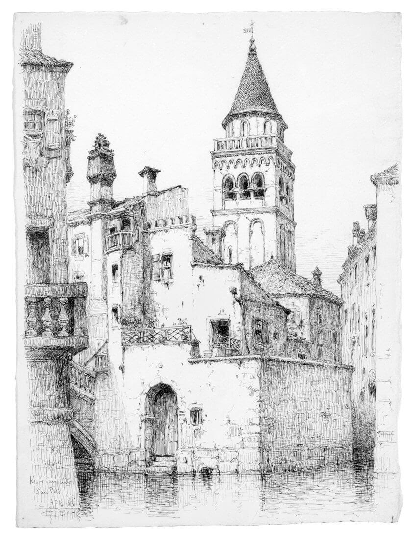 03-Rio-di-San-Polo-Venice-1883-Andrew-F-Bunner-Venice-Urban-Architectural-Drawings-from-the-1800s-www-designstack-co