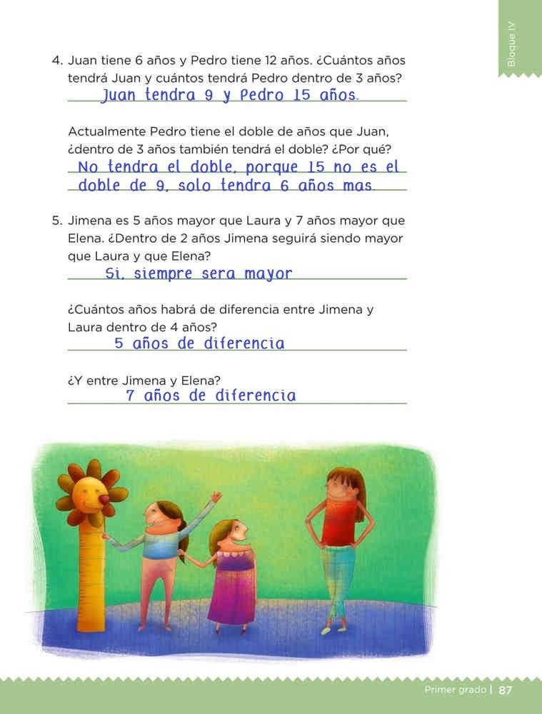 Quito y pongo pagina 87 desafios matemáticos primer grado contestado