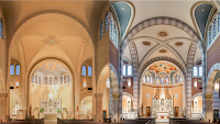 Before and After: Immaculate Conception Cathedral in Louisiana