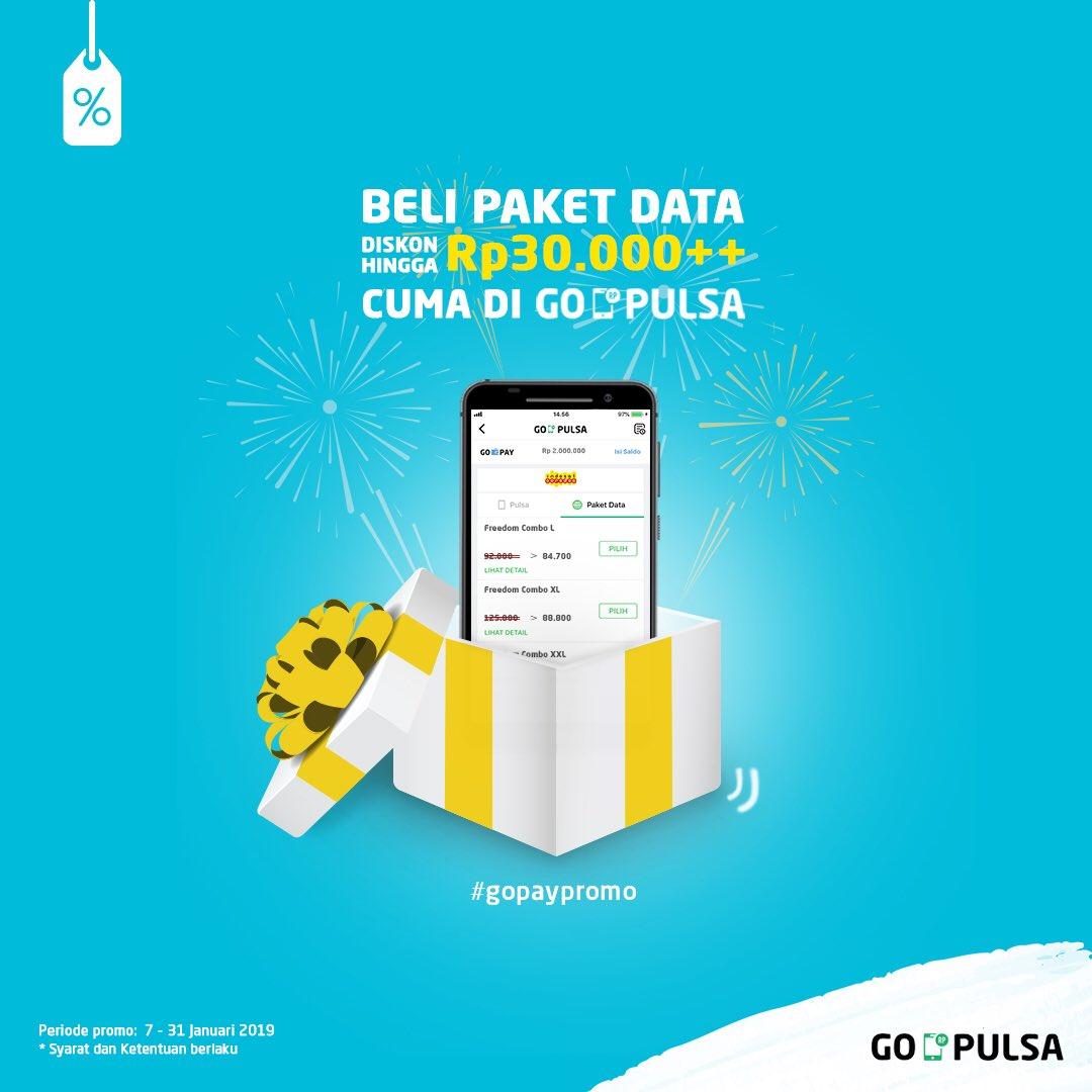 #GOJEK - Promo Diskon 30K Dengan Beli Paket Data di GOPULSA (s.d 31 Jan 2018)