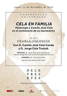 """""""Cela en familia: Homenaje a Camilo José Cela en el centenario de su nacimiento""""."""