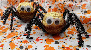 ferrero rocher spiders craft