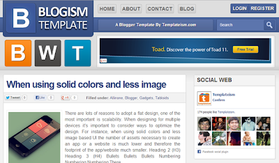 Blogism Blogger Template SEO Friendly