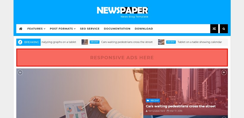 Newspaper Free Blogger Template