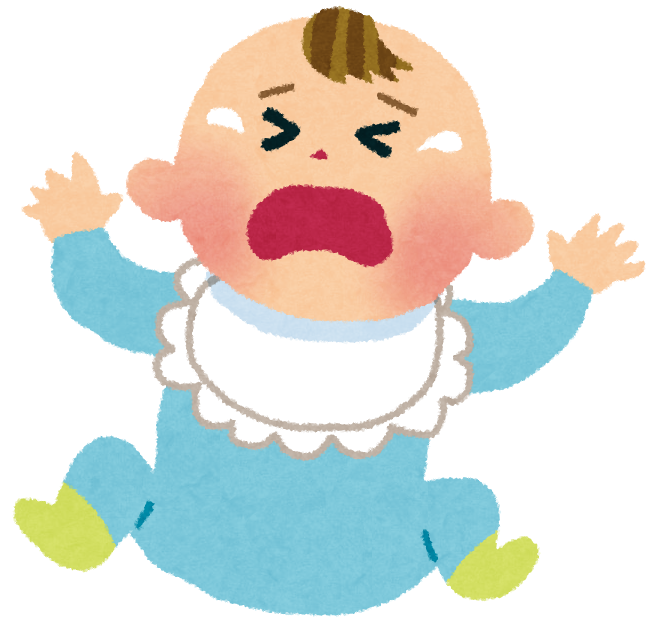 「泣いている赤ちゃん」の画像検索結果