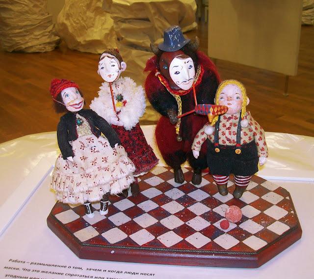 """Наталья Стукалова (Самара) """"Люди, которые носят маски"""" Выставка авторской куклы в Самаре """"Куклы. Эмоции. Чувства."""""""