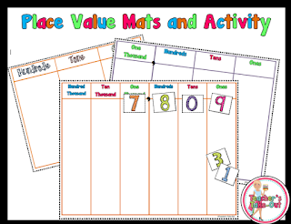 Free Place Value Mats Colored