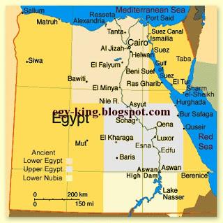 Karte Von Agypten Mit Die Urlaubsorten