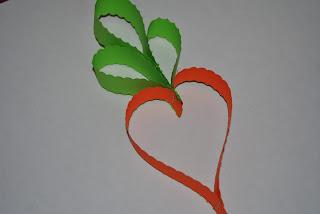 morcov din hartie glasata