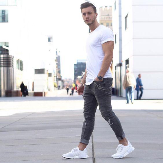 Macho Moda - Blog de Moda Masculina  Looks Masculinos com Adidas NMD ... e4d0fc3b64de2