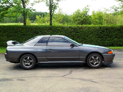 Side Profile of Grey 1989 Nissan Skyline GTR R32 Imported to America