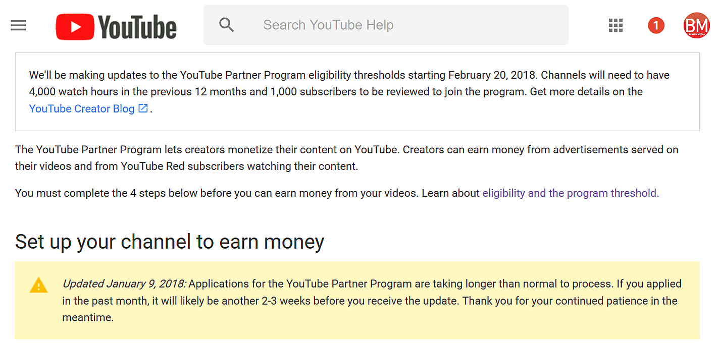youtube new monetization policy