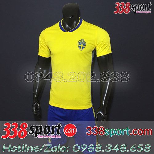 Áo Đội Tuyển Thụy Điển 2018 Vàng Sân Nhà