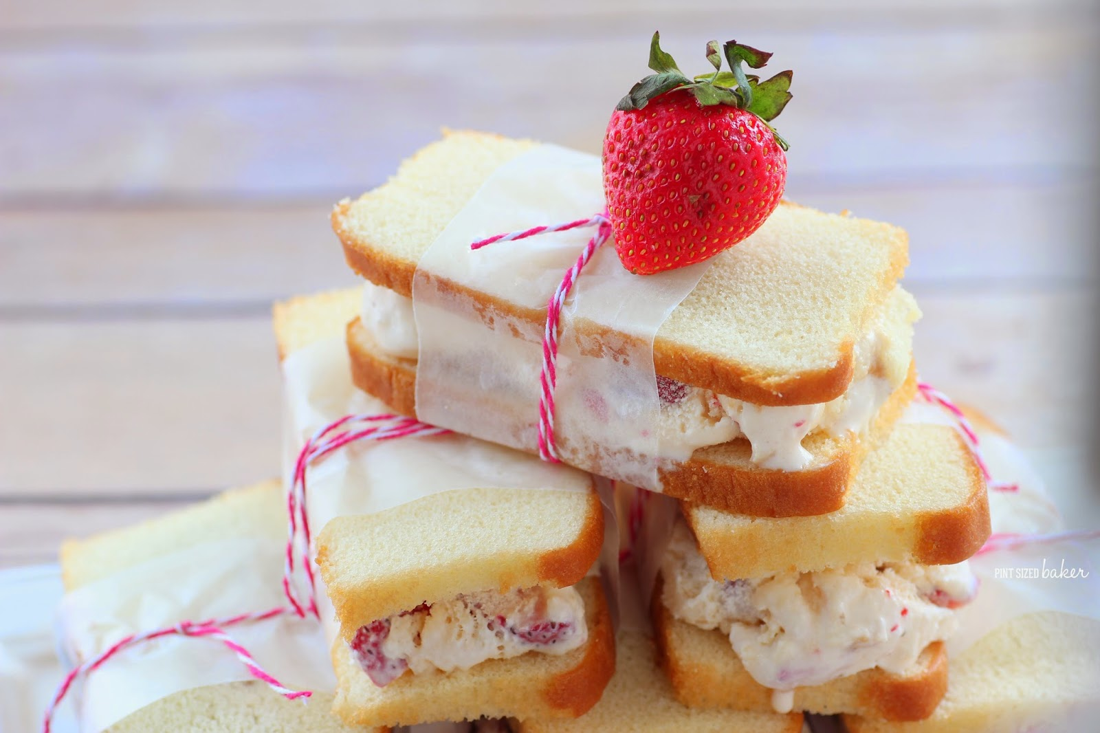Strawberry Shortcake Ice Cream Sandwiches - Pint Sized Baker