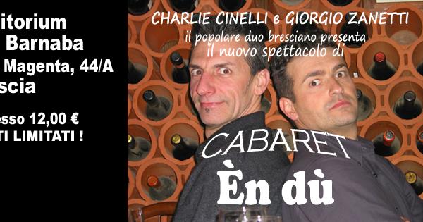 """Charlie Cinelli e Giorgio Zanetti in favore de """"I fuori Onda"""". Venerdi 14 ottobre 2016"""