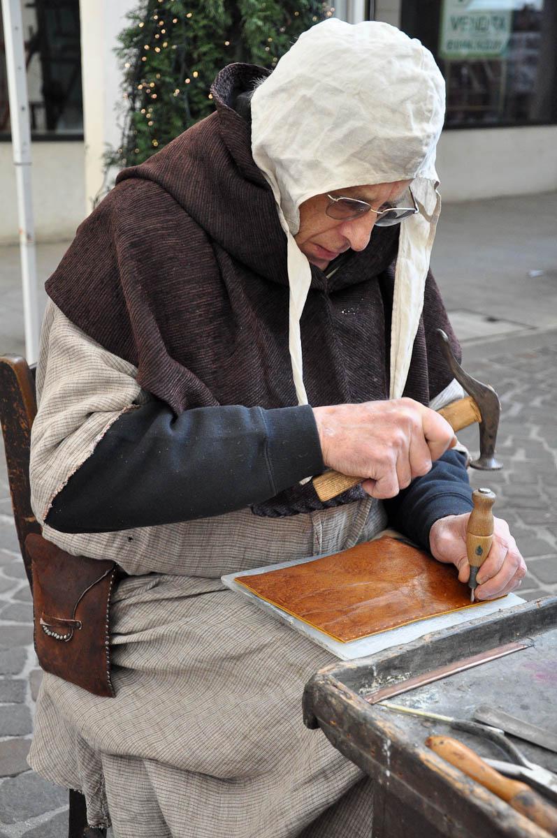 Shoemaker, Old crafts festival, Corso Fogazzaro, Vicenza, Veneto, Italy