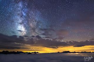 La Voie Lactée vue depuis l'observatoire du Pic du Midi
