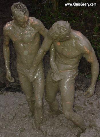 gay mud wrestling