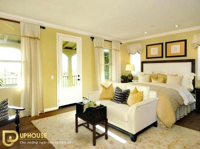 Phòng ngủ màu vàng nhạt 11