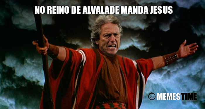 Memes Time Jorge Jesus Vestido de Moisés depois do Jogo Sporting 2 Porto 1 para a Ligas Nos – No Reino de Alvalade manda Jesus