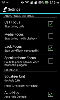 Microphone app settings