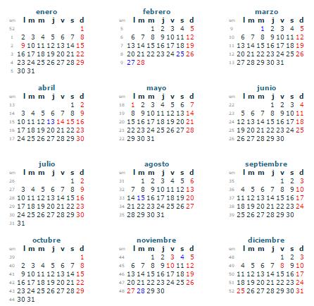 Calendario Panama 2018.Ofimatica Hacer Calendario A Mano