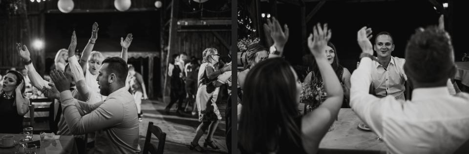 klimatyczne wesele na sianie w stodole