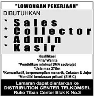 Lowongan Kerja Distribution Center Telkomsel