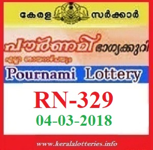 POURNAMI (RN-329) LOTTERY RESULT