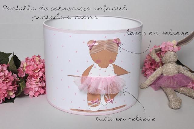 PANTALLAS LAMPARAS INFANTILES PERSONALIZADAS A MANO