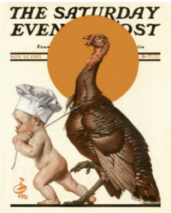 Norman Rockwell Turkey and Baby