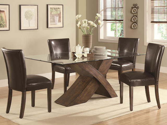 Leather dining room chair ideas with brown domination