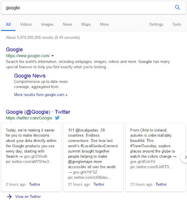 Mencari Google di Googole