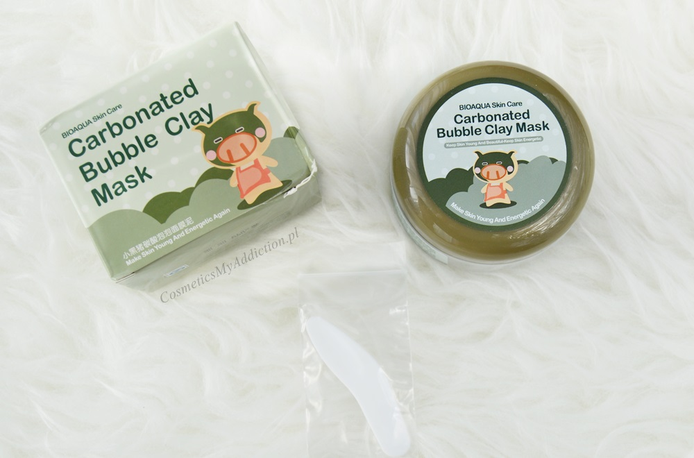 Maseczka bąbelkująca, Carbonated Bubble Clay Mask, Bioaqua