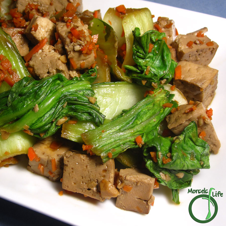 Morsels of Life - Bok Choy Tofu Stir Fry - A simple stir fry combining tasty bok choy and flavorful tofu cubes.