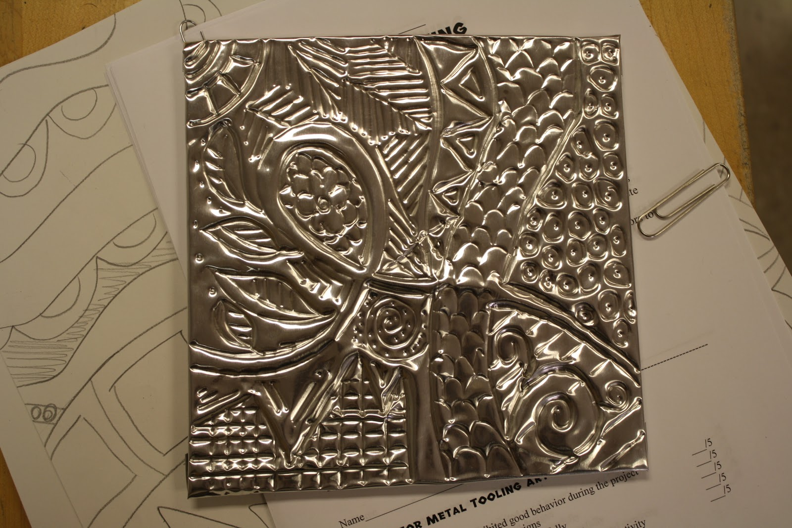 Metal Tooling In Middle School Art