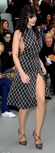 Daisy Lowe flashes sideboob at the Ashley Williams LFW Show