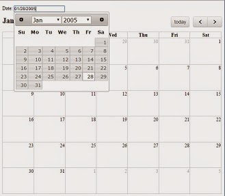 Fullcalendar Datepicker
