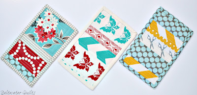 Quilted Mug Rugs | © Saltwater Quilts 2012