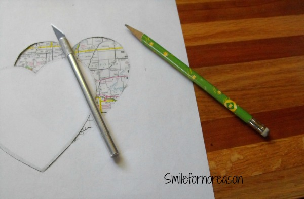 Smile for no reason: How to Make a DIY Heart Map Art and