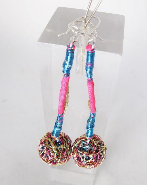 Sphere earrings, contemporary earrings