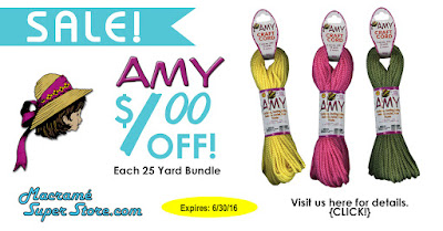Amy 2mm Nylon Craft Cord on Sale this Month - $1.00 off!