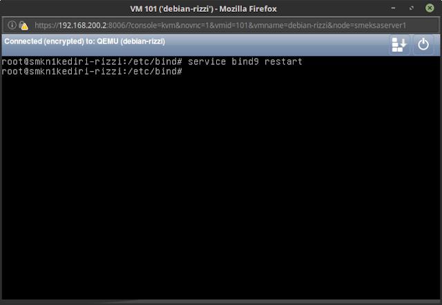 service bind9 restart