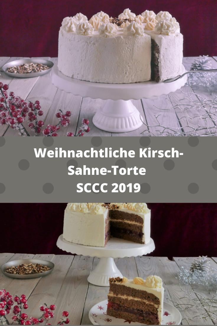 Weihnachtliche Schokoladen-Kirschsahnetorte mit Eierlikör von Silkes Welt | SCCC 2019: Türchen Nr. 7 | Gewinnspiel